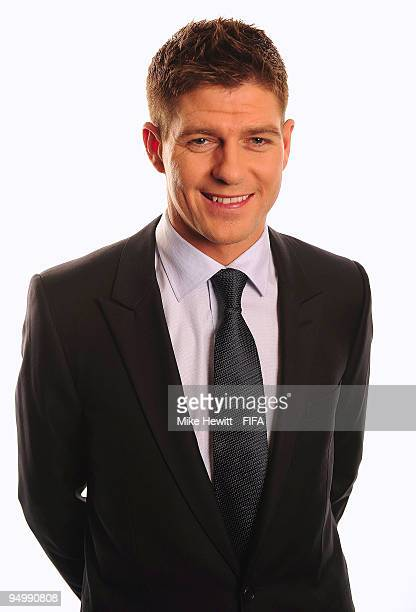 FIFPro World XI player Stephen Gerrard of Liverpool and England poses for a photo on December 21 2009 in Zurich Switzerland