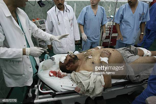 Fifteen Palestinians killed and 11 others injured late on Saturday in an Israeli strike on a housing block in eastern Gaza July 12 2014 At least 151...
