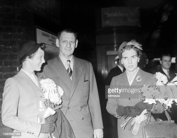 Fifteen year old Princess Margrethe of Denmark, pictured with her father, King Frederik, and mother Queen Ingrid of Denmark. Princess Margrethe, who...
