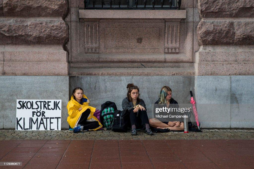 Greta Thunberg Portraits : News Photo