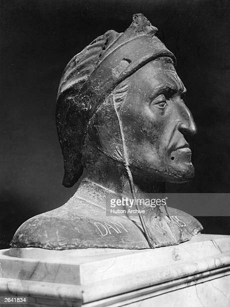 A fifteenth century bronze of Italian poet Dante Alighieri at the Naples museum circa 1400
