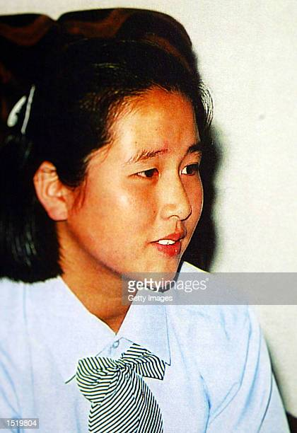 Fifteenyearold North Korean Kim Hye Gyon is shown in this September 30 2002 photograph Japanese officials confirmed October 23 2002 that DNA evidence...