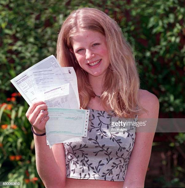 Fifteenyearold schoolgirl Lucy Shropshall from Oldbury West Midlands who gave up modelling to concentrate on her GCSE's receives her results today...