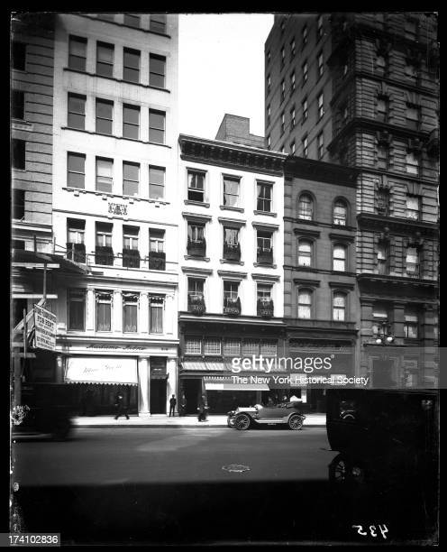 Fifth Avenue between 43rd Street and 44th Street showing Henri Bendel at no 520 and Madame Irene corsets at no 518New York New York mid 1910s
