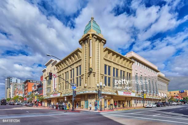 Fifth Avenue in Gaslamp Quarter,San Diego,California,USA
