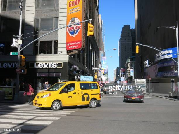 Fifth Avenue Manhattan New York City yellow taxi