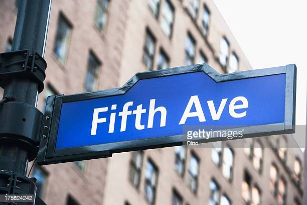 Fifth Avenue street sign, New York City, USA