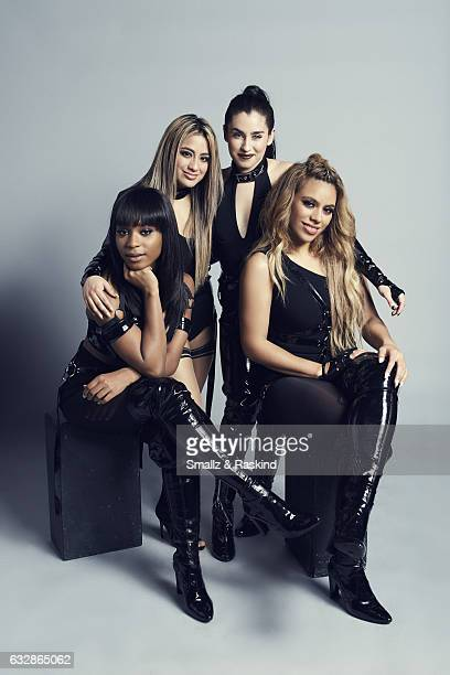 Fifth Harmony Ally Brooke Normani Kordei Lauren Jauregui and Dinah Jane pose for a portrait at the 2017 People's Choice Awards at the Microsoft...