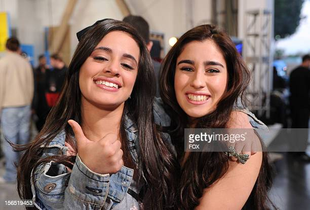 Fifth Harmony backstage at FOX's 'The X Factor' Season 2 Top 11 to 10 Live Elimination Show on November 15 2012 in Hollywood California