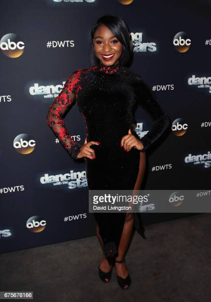 Fifth Harmony member Normani Kordei attends 'Dancing with the Stars' Season 24 at CBS Televison City on May 1 2017 in Los Angeles California