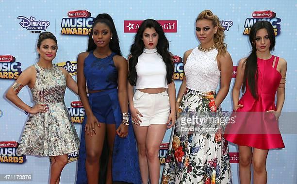 Fifth Harmony members Ally Brooke, Normani Hamilton, Lauren Jauregui, Dinah-Jane Hansen and Camila Cabello attend the 2015 Radio Disney Music Awards...
