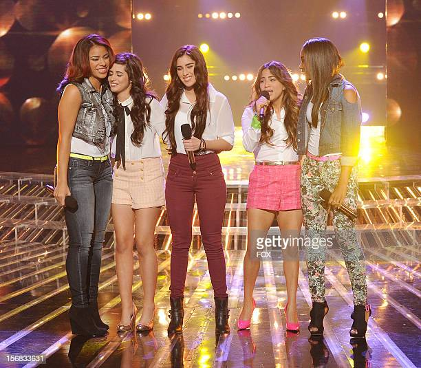 Fifth Harmony onstage at FOX's 'The X Factor' Season 2 Top 10 Live Performance Show on November 21 2012 in Hollywood California