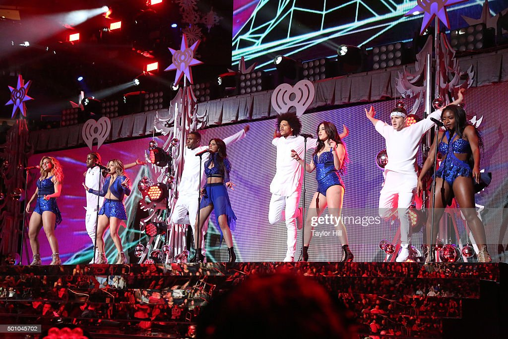 Fifth Harmony perform during the 2015 Z100 Jingle Ball at Madison Square Garden on December 11, 2015 in New York City.