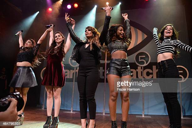"""Fifth Harmony performs at MTV's 2014 """"Artist To Watch"""" Kickoff Event at the House of Blues Sunset Strip on January 23, 2014 in West Hollywood,..."""