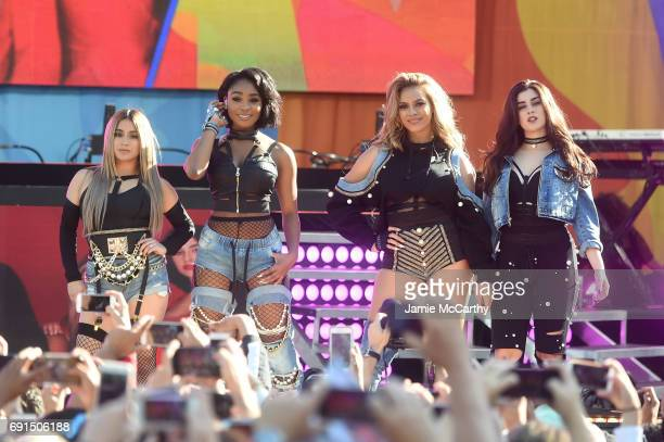 Fifth Harmony performs on ABC's Good Morning America at Rumsey Playfield Central Park on June 2 2017 in New York City