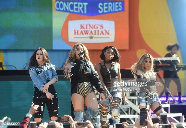 Fifth Harmony performs on ABC's 'Good Morning America' at Rumsey Playfield Central Park on June 2 2017 in New York City
