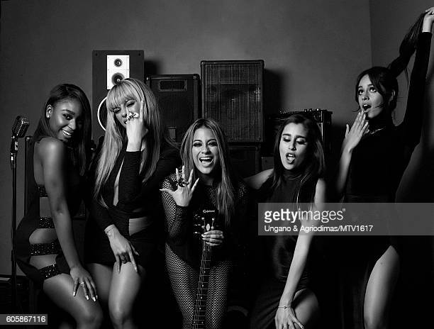 Normani Hamilton, Dinah Jane Hansen, Ally Brooke, Lauren Jauregui and Camila Cabello) poses for a portrait at the 2016 MTV Video Music Awards at...
