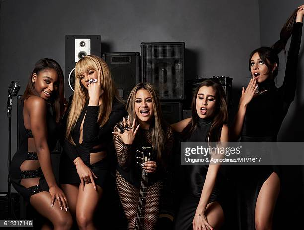 Normani Hamilton Dinah Jane Hansen Ally Brooke Lauren Jauregui and Camila Cabello poses for a portrait at the 2016 MTV Video Music Awards at Madison...