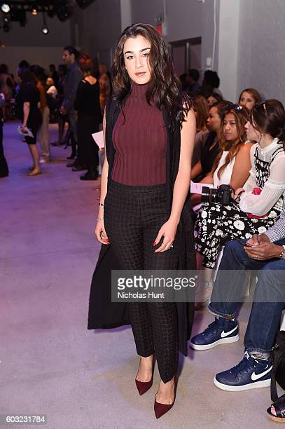 Fifth Harmony singer Lauren Jauregui attends the Leanne Marshall fashion show during New York Fashion Week September 2016 at The Gallery Skylight at...