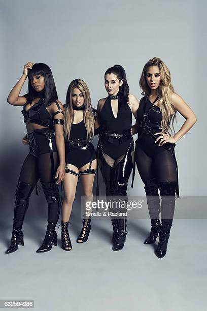 Fifth Harmony singers Ally Brooke Normani Kordei Lauren Jauregui and Dinah Jane pose for a portrait at the 2017 People's Choice Awards at the...