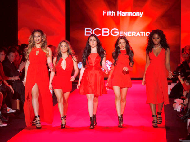Fifth Harmony walks at the Go Red for Women Red Dress Collection during the Mercedes-Benz Fall/Winte