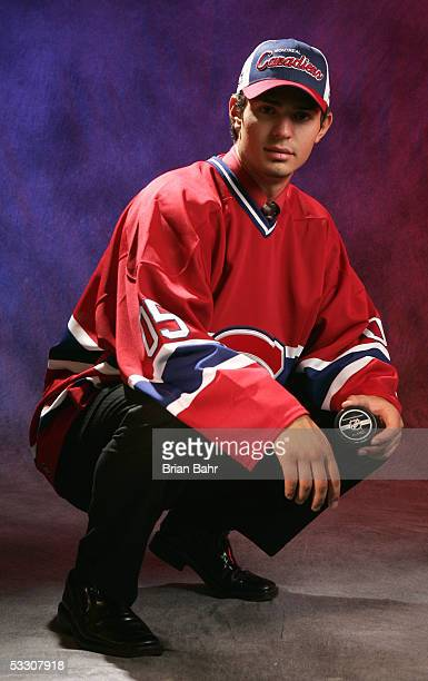 Fifth overall draft pick Carey Price of the Montreal Canadiens poses for a portrait during the 2005 National Hockey League Draft on July 30 2005 at...