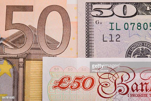 fifties - british pound sterling note stock pictures, royalty-free photos & images