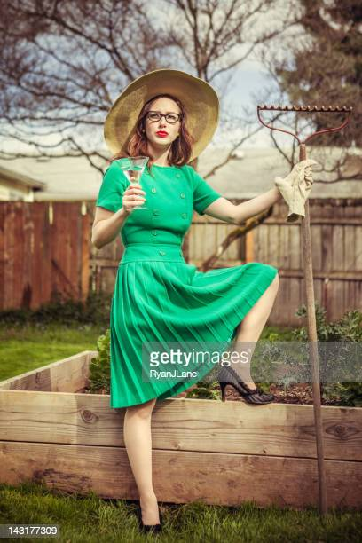 Fifties Style Gardening Housewife