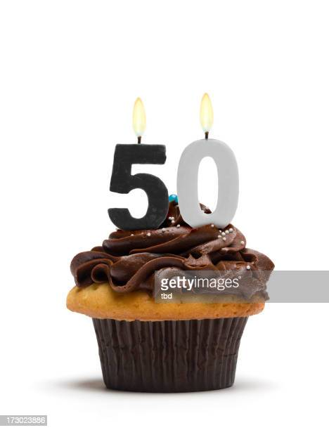 Fiftieth Birthday Cupcake
