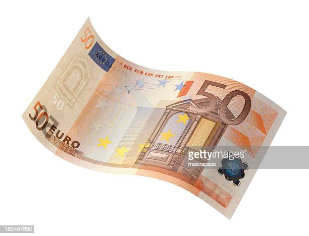 fifty euro banknote - euro symbol stock photos and pictures