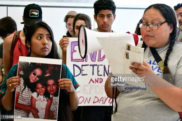 Fifty immigrants joined by community activist occupy the lobby of whats believed to house the office of 2020 US Presidential hopeful Joe Biden during...