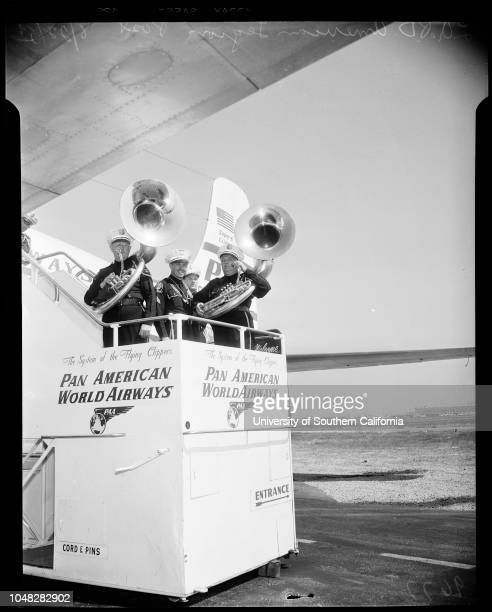 Fifty members of Los Angeles Police Department's American Legion Post 3381 Band took off for American Legion National Convention in New York City 22...