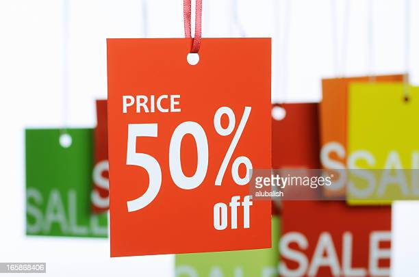 Fifty percent off label