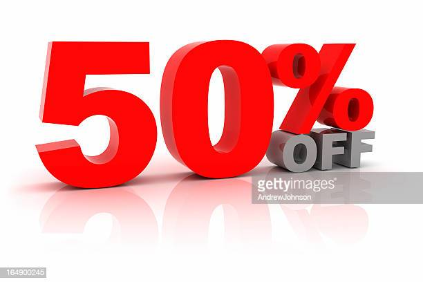 fifty percent off - number 50 stock photos and pictures