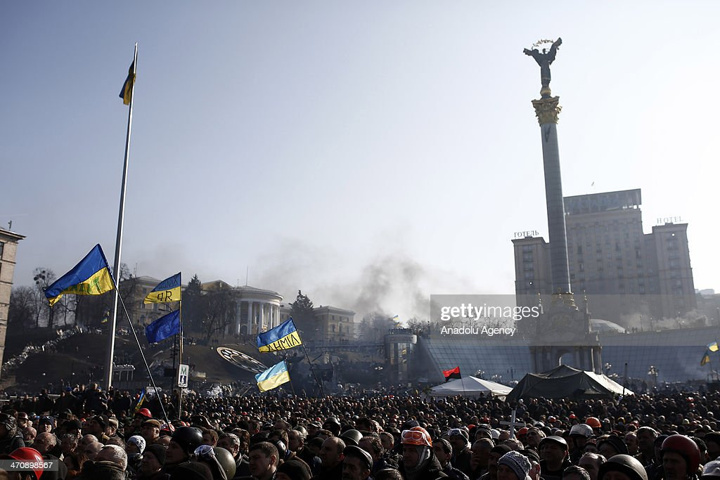 Anti-government protests in Ukraine : ニュース写真