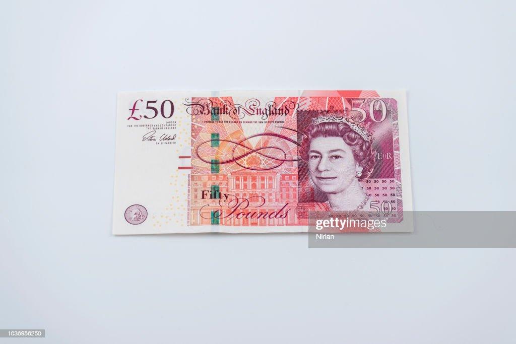 Fifty Pound Note : Stock Photo