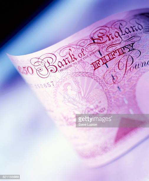 fifty pound note - fifty pound note stock pictures, royalty-free photos & images