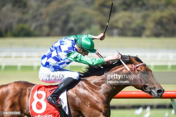 Fifty Stars ridden by Ben Allen wins the Araza Sandown Stakes at Ladbrokes Park Hillside Racecourse on November 17, 2018 in Springvale, Australia.