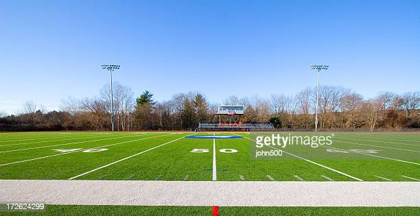 空のサッカーフィールド