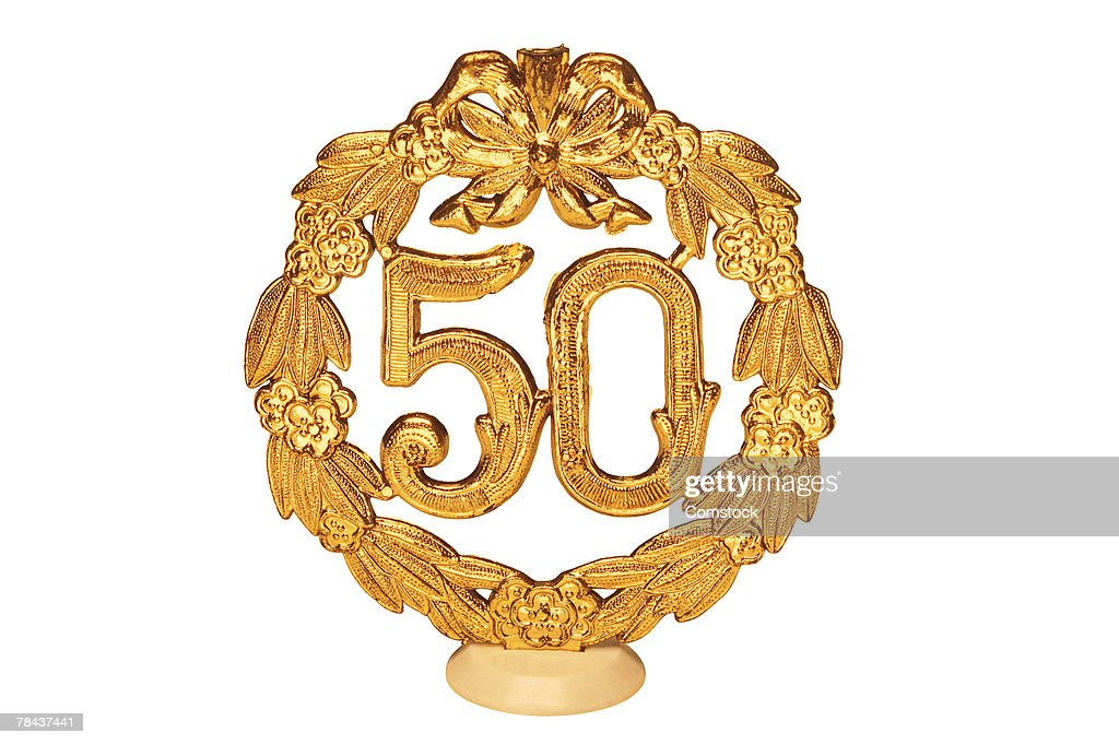 Fifty year celebration decoration : Stockfoto