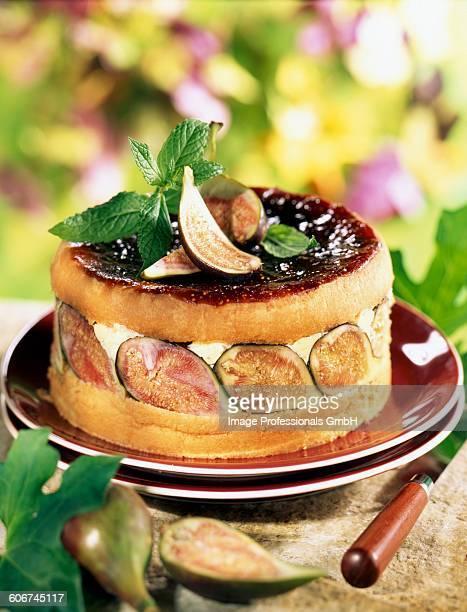 Fig and banyuls cake
