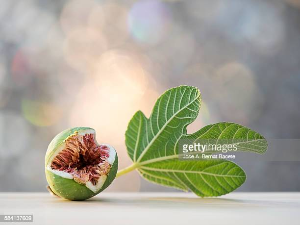 fig divided by the half - fig tree stock pictures, royalty-free photos & images