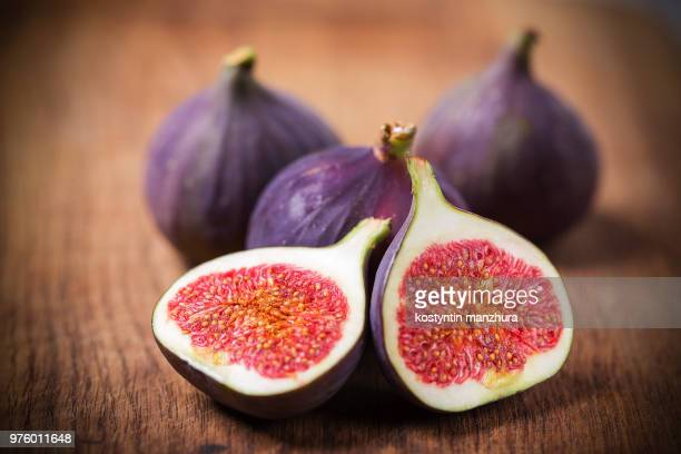 fig fruit cross section - fig stock pictures, royalty-free photos & images