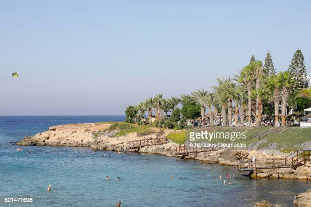 Fig Tree Bay on July 17 2017 in ProtarasCyprus Fig Tree Beach beyond a small rocky cove lies Fig Tree Bay so called after some ancient fig trees that...