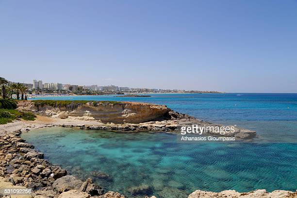 Fig Tree Beach on April 27 2016 in Protaras Cyprus Fig Tree Beach beyond a small rocky cove lies Fig Tree Bay so called after some ancient fig trees...