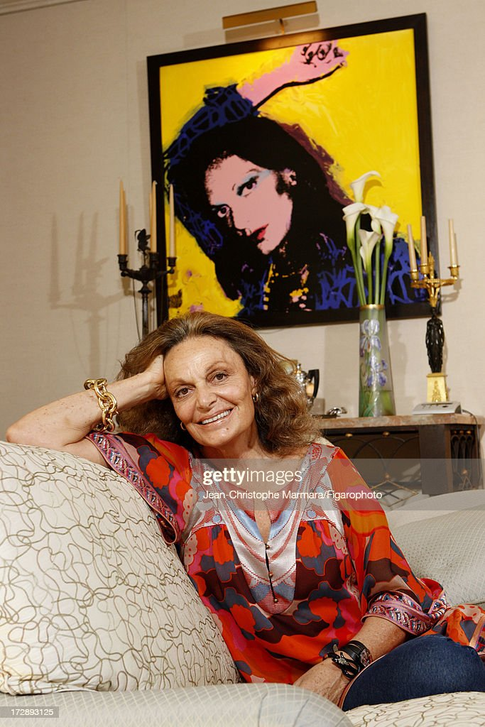 085874-002. Fashion designer Diane von Furstenberg is photographed for Le Figaro Magazine on May 18, 2009 in Paris, France.