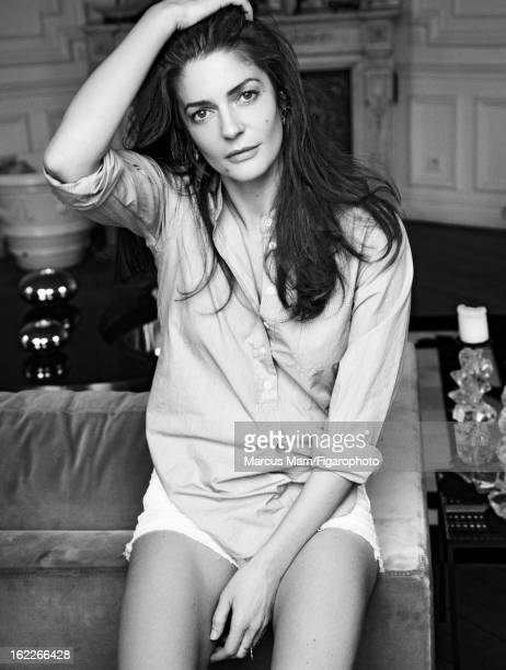 Figaro ID 10149600 Actress Chiara Mastroianni is photographed for Madame Figaro on July 12 2011 in Paris France PUBLISHED IMAGE Shirt shorts CREDIT...