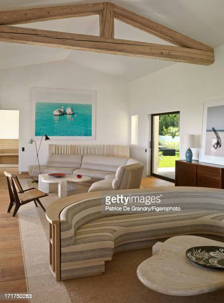 Figaro ID 104642010 A holiday home designed by architect Pierre Yovanovitch is photographed for Madame Figaro on May 1 2013 in St Tropez France The...