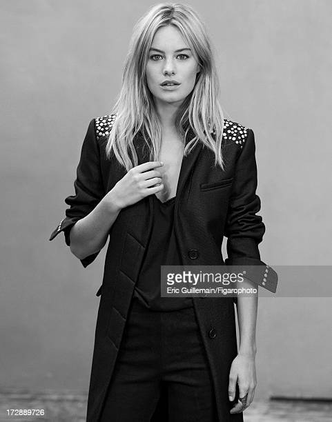Figaro ID 105033010 Model Camille Rowe is photographed for Madame Figaro on September 27 2012 in Paris France Coat tank top and leggings ring CREDIT...