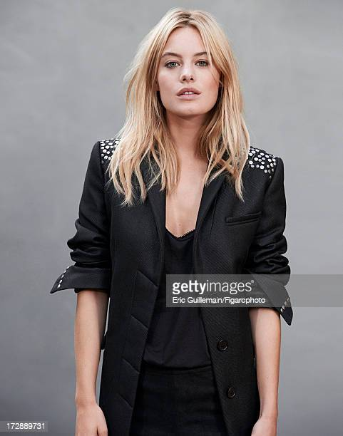 Figaro ID 105033014 Model Camille Rowe is photographed for Madame Figaro on September 27 2012 in Paris France Coat tank top and leggings ring CREDIT...